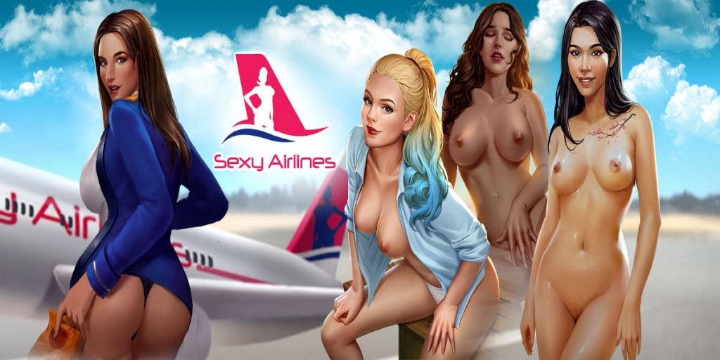 sexy airlines dating sim android hentai game